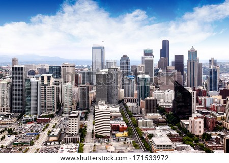 view of seattle cityscape.