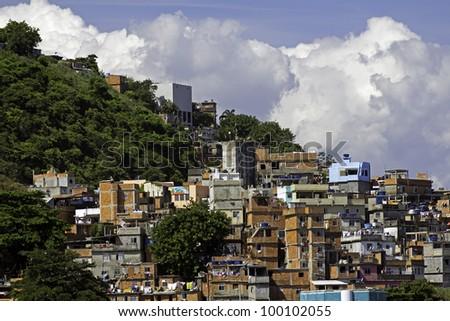 View of Shanty Town in Rio de Janeiro