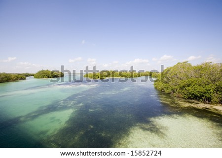 View of Sian Ka'an wiliderness area - Yucatan Mexico