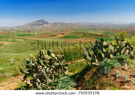 view of Sicily landscape #790939198
