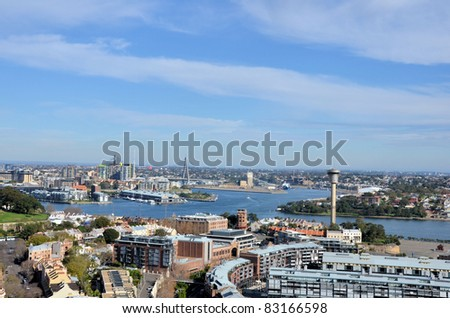 View of Sidney Harbour and Anzac Bridge