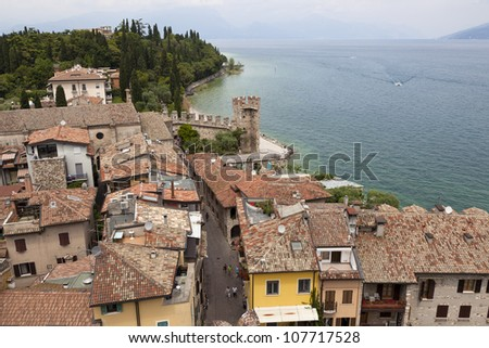 View of Sirmione from the castle.
