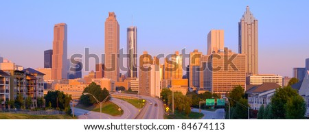 View of skyscrapers in downtown Atlanta, Georgia, USA.
