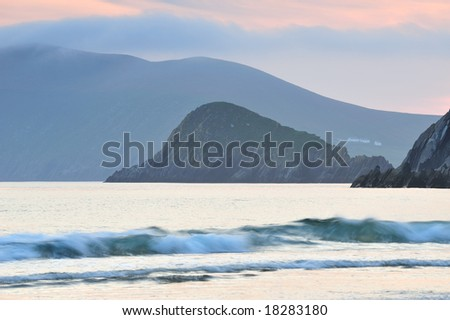 view of Slea Head from Coumenoole Beach, Co.Kerry, Ireland