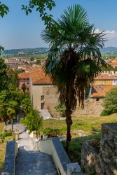 View of Soave's village near Verona