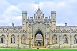 View of St John's College, University of Cambridge in Cambridge, England, UK.