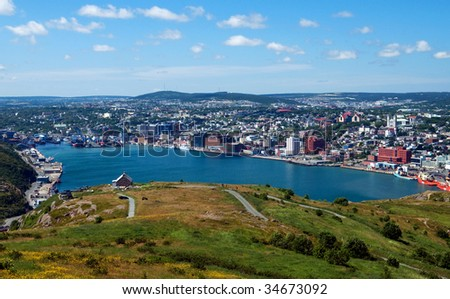 View of St. John's, Newfoundland, Canada from Signal Hill