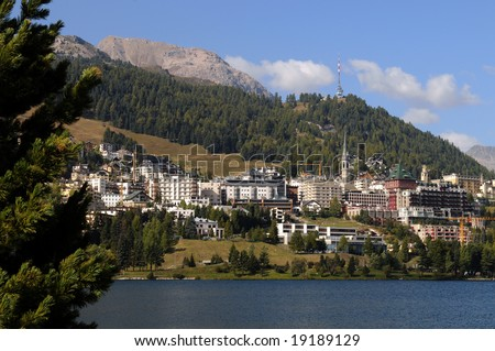 View of St. Moritz in Switzerland