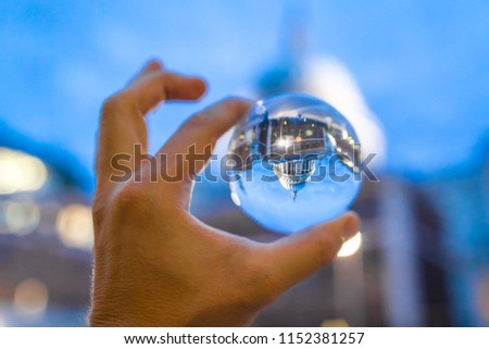 View of St Paul through crystal ball #1152381257