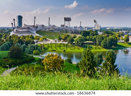 View of stadium in Munich, Germany