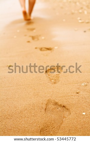 View of steps on sand
