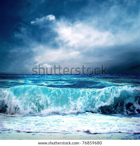 Stock Photo View of storm seascape