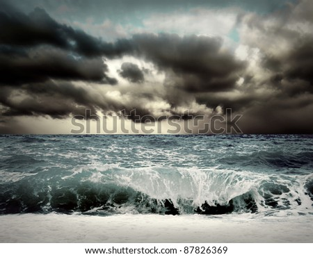 View of storm seascape