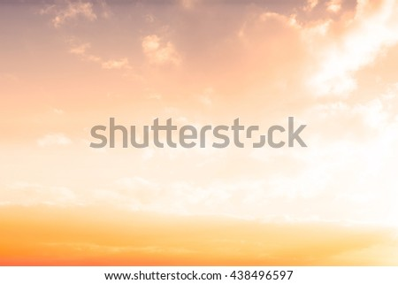 View of sunset with orange sky
