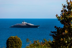 View of super yacht on the sea by Monaco