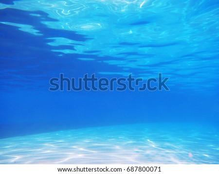 View of swimming pool underwater #687800071