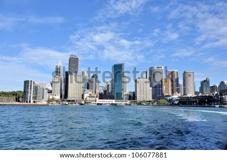 View of Sydney financial District