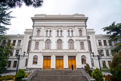 View of Tbilisi State University, established 1918 y