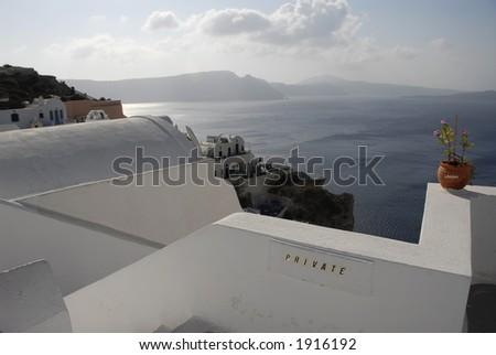 View of the Aegean Sea from Santorini, Greece