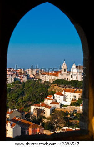 View of the Alfama district from The Castle of Saint George