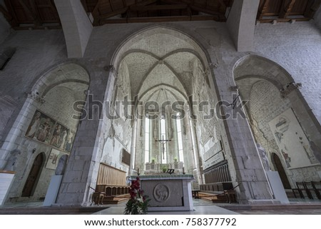 view of the altar of the...