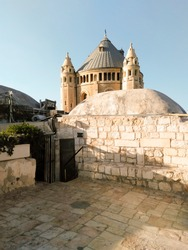 View of the ancient cathedral St. James in Jerusalem.