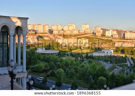 View of the Ankara city from the observation deck Ankara North Star (Kuzey Yildizi) Mosque. Stok fotoğraf ©