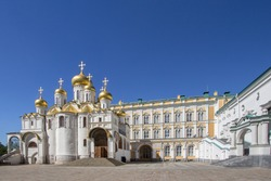 View of the Annunciation Cathedral Moscow Kremlin, Russia