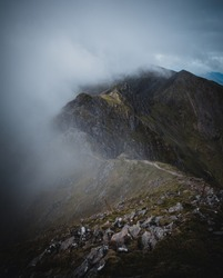 View of the Aonach Eagach Ridge in Glencoe, Scotland