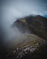 View of the Aonach Eagach Ridge in Glencoe, Scotland