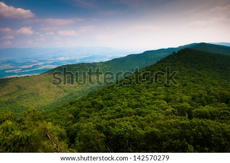 View of the Appalachian Mountains from Duncan Knob, George Washington National Forest, Virginia.