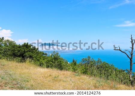 View of the Ayu-Dag mountain, Crimea, Russia. Mountain summer landscape. Stockfoto ©