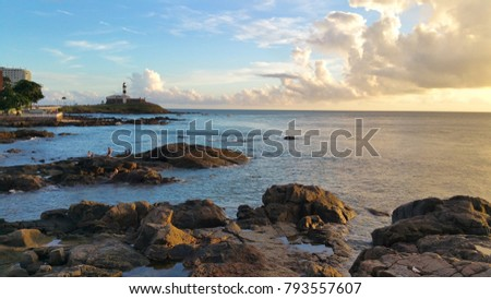 Shutterstock View of the Barra Lighthouse in Salvador Bahia