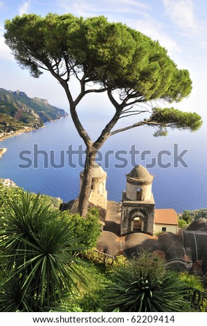 View of the Bay of Naples from Ravello, Italy.