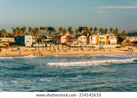 View of the beach in Imperial Beach, California.