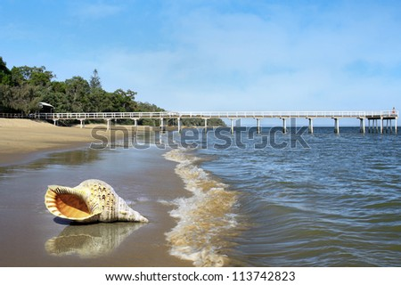 view of the beautiful beach front of Hervey Bay Queensland Australia