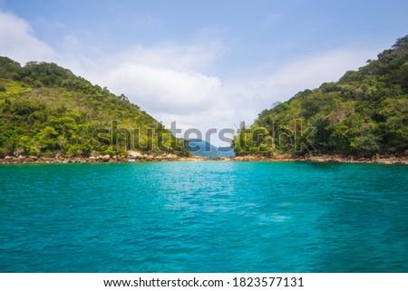 View of the beautiful Green Lagoon (Lagoa Verde) - Ilha Grande, Angra dos Reis, Brazil Foto stock ©