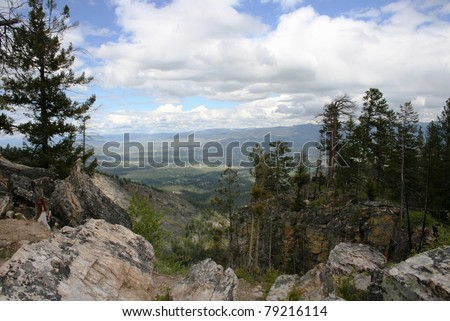View of the Bitterroot Valley from the Blodgett Overlook, Montana