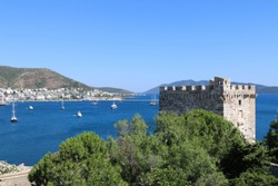 view of the  bodrum castle -  turkey