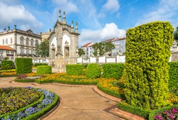 View of the botanical garden in Barcelos - Portugal