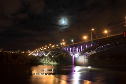 View of the bridge Kanavinskiy at night