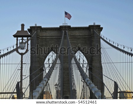 view of the Brooklyn Bridge in New York City