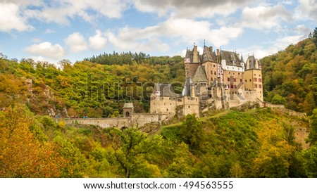 View of the Burg Eltz Castle