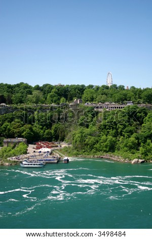 View of the Canadian side near Niagara Falls
