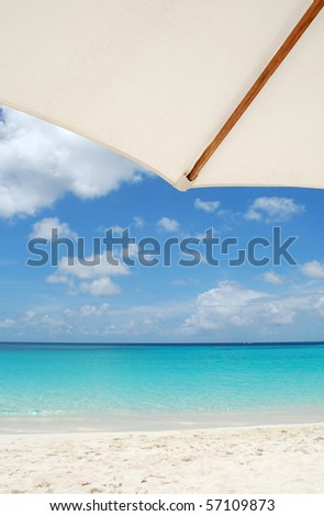 View of the Caribbean beach, Anguilla Island