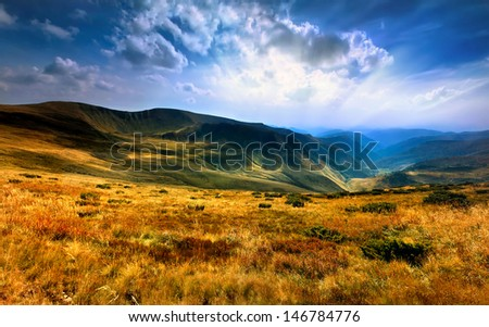 view of the Carpathian mountains #146784776