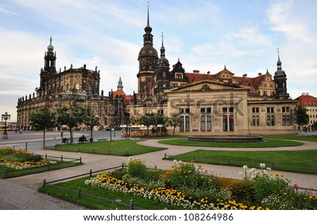 View of the Castle Church and the Dresden Royal Palace