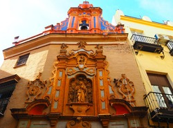 View of the Chapel of San Jose in Seville, Spain.
