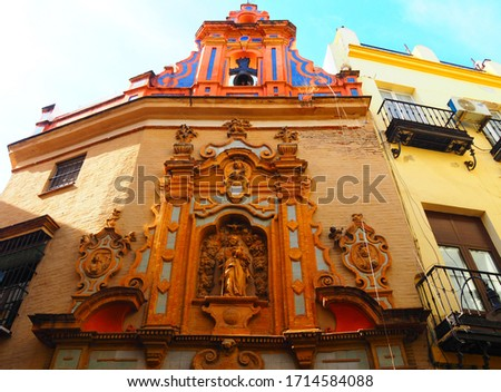 View of the Chapel of San Jose in Seville, Spain. Foto stock ©