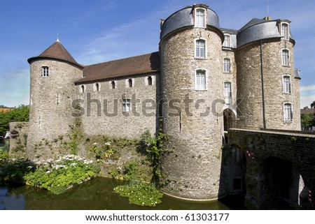 View of the Chateau de Boulogne-sur-Mer, a 13th century castle in Boulogne, northern France.